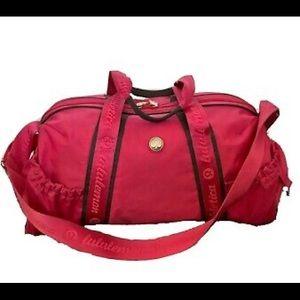 Lulu Vintage Duffle Bag in Hot Pink